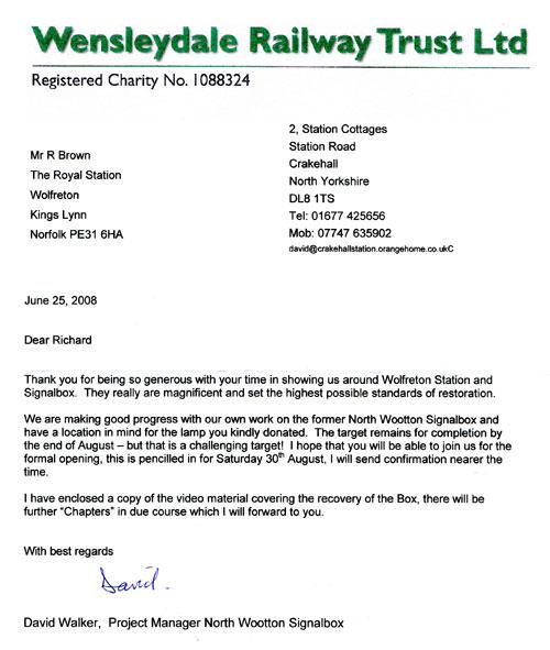 Wensleydale Railway Trust Ltd