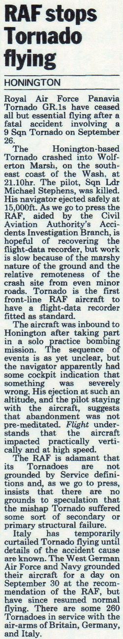 Wolferton Air Crash 1983