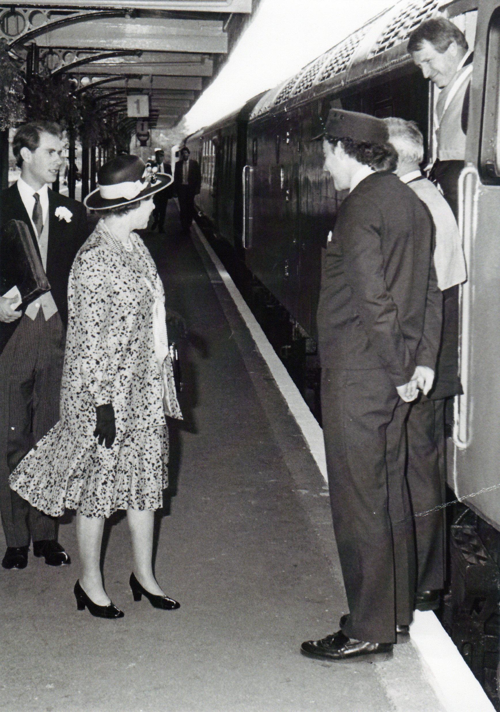 HRH Queen Elizabeth II arrives King's Lynn Station