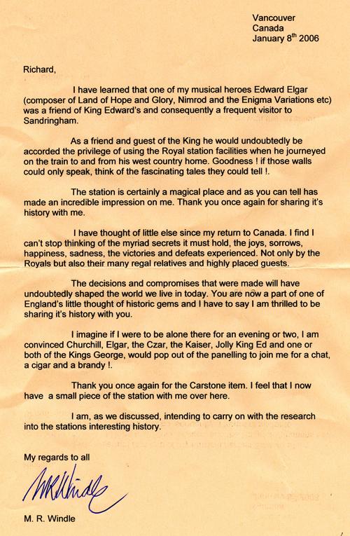 Windle Letter